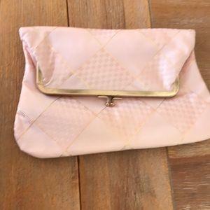 Handbags - VINTAGE Mini purse light pinkish/peach and gold